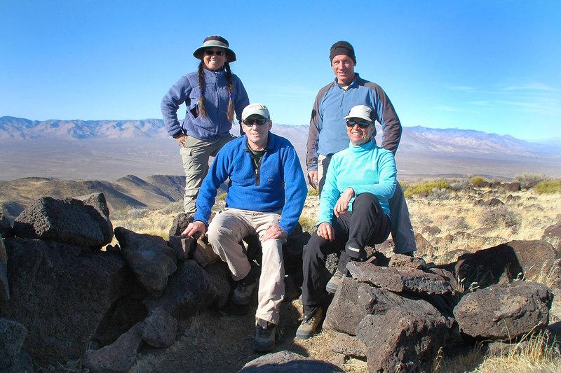 Group shot on Black Mountain (aka El Paso Mt) at 5,244 feet.