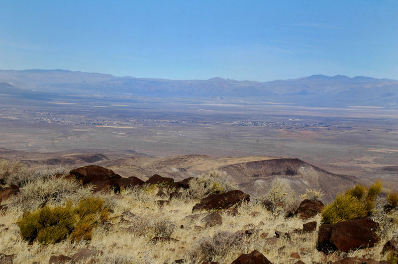 The town of Inyokern to the north.