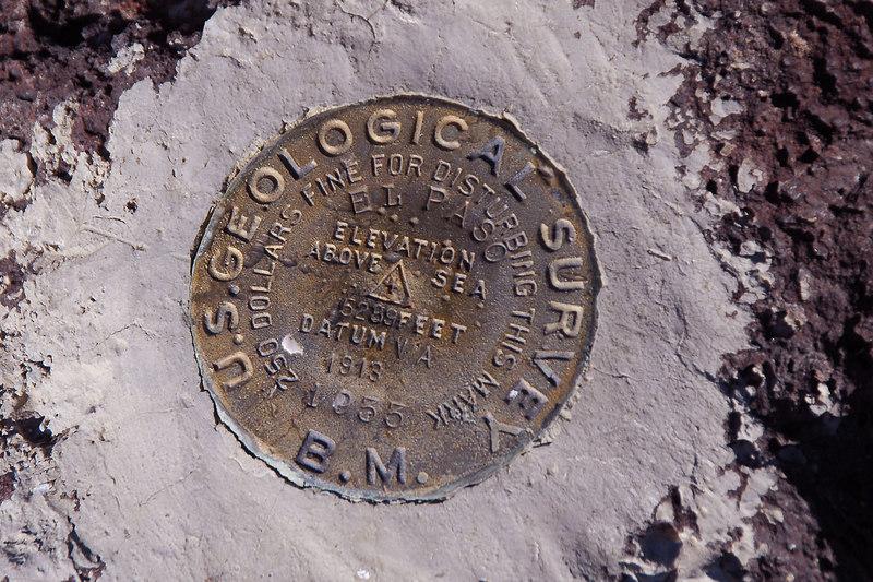The peak is marked as El Paso.
