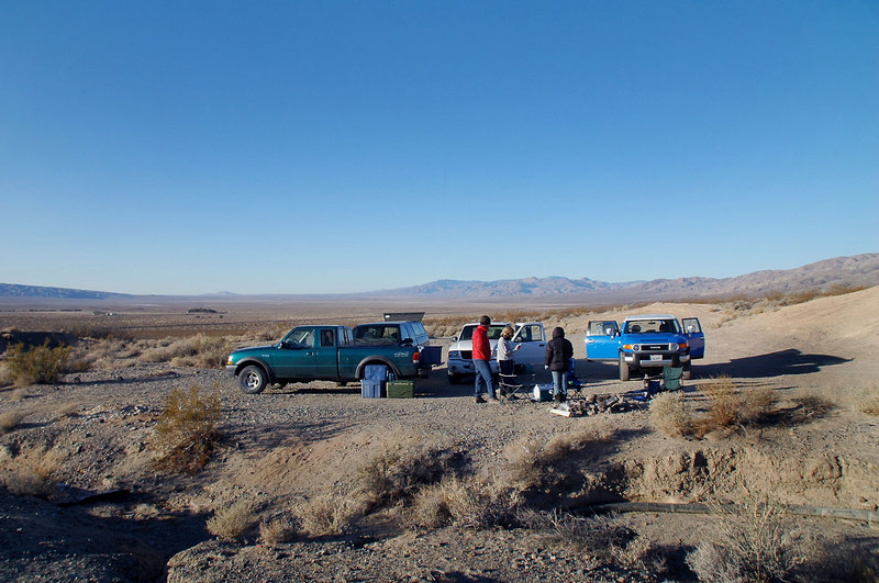 Our campsite just off the Mesquite Canyon Road the next morning.