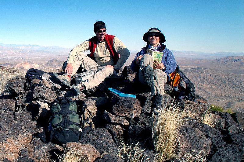 Tom and Cori on the summit.