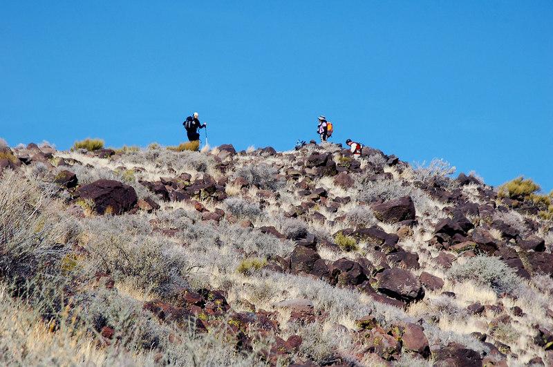 Sooz, Cori and Tom on the peak.