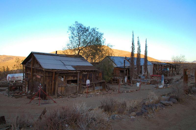 Cabins at the Burro Schmidt site.