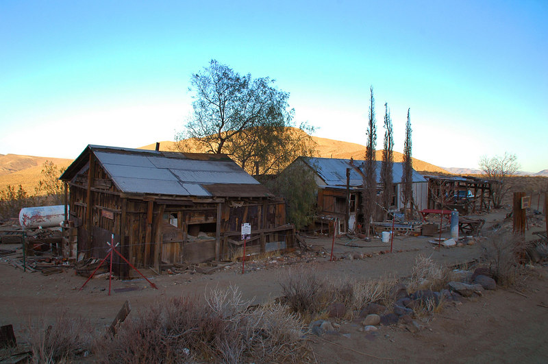 Cabins at the Burro Schmidt site.
