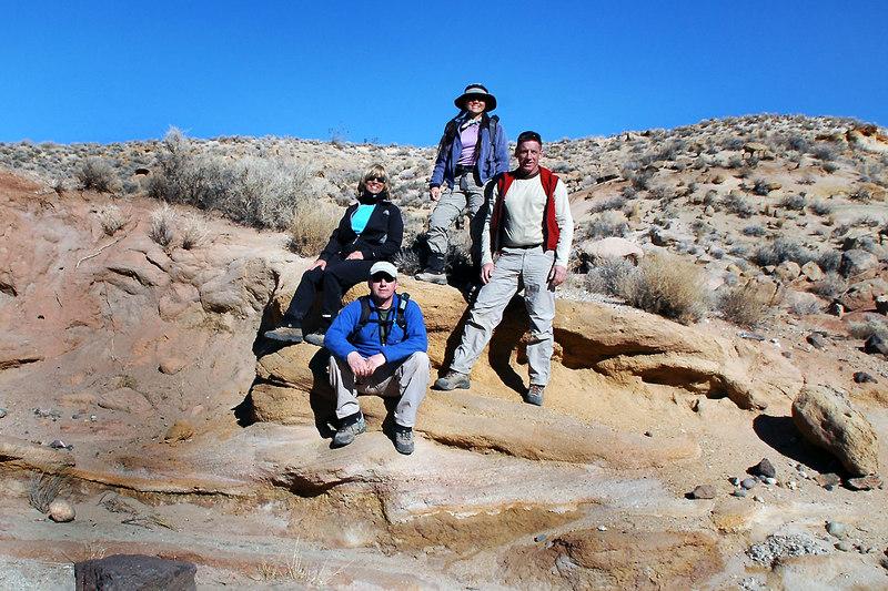 Sooz, Joe(me), Cori and Tom. This is where our hike to Black Mountain starts.