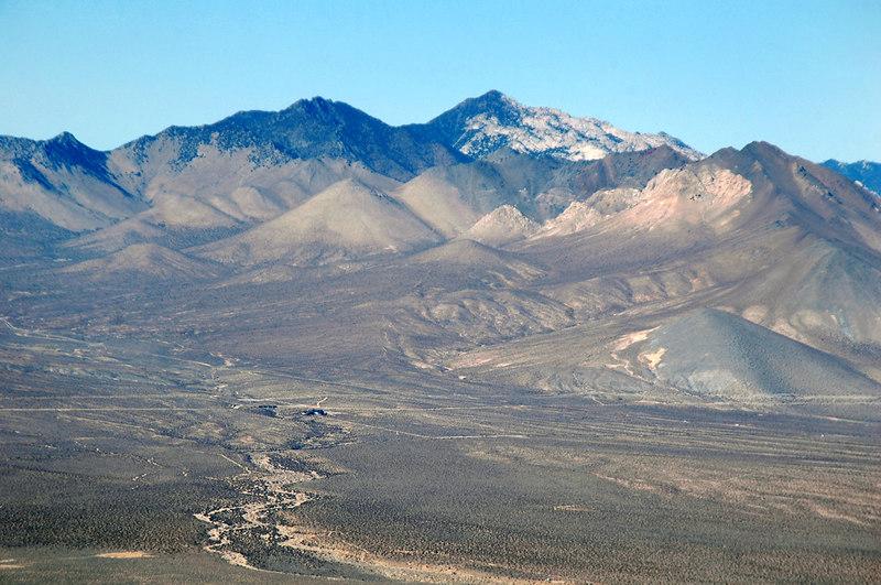 Zoomed in on Owens Peak.