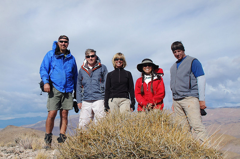Group shot on Whitecap Mountain at 6,117'. For desert peaks, Boulder and Whitecap were easy.