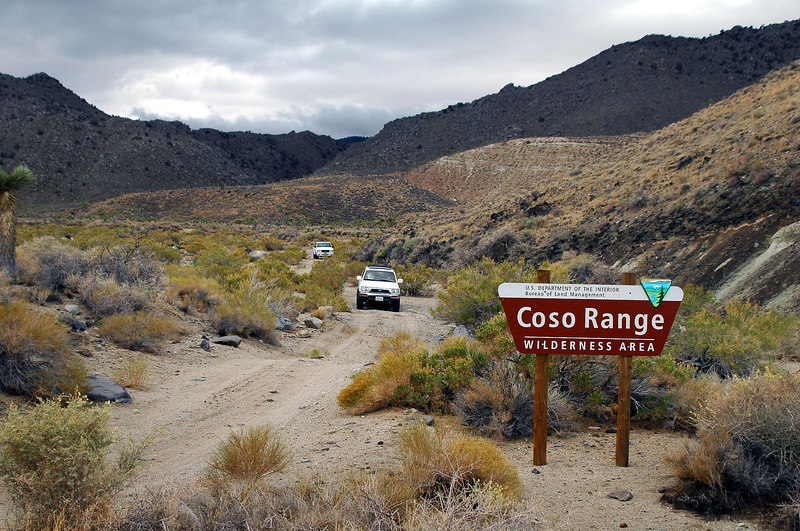 Leaving the Coso Range Wilderness and heading to Cactus Flat.