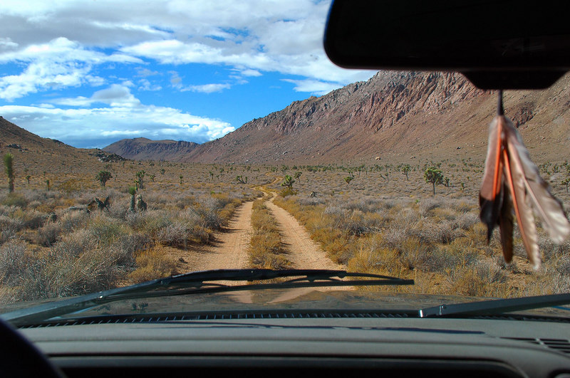 After reaching Hwy 395, we drove the elven mile Cactus Flat dirt road to the start of the hike.