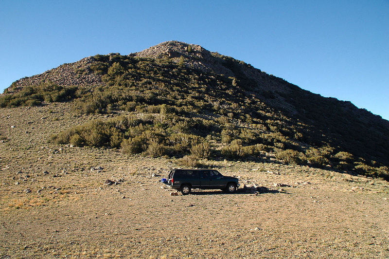 Our campsite on the saddle at 9,800'.