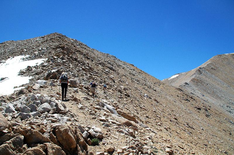 Hiking on towards the peak.