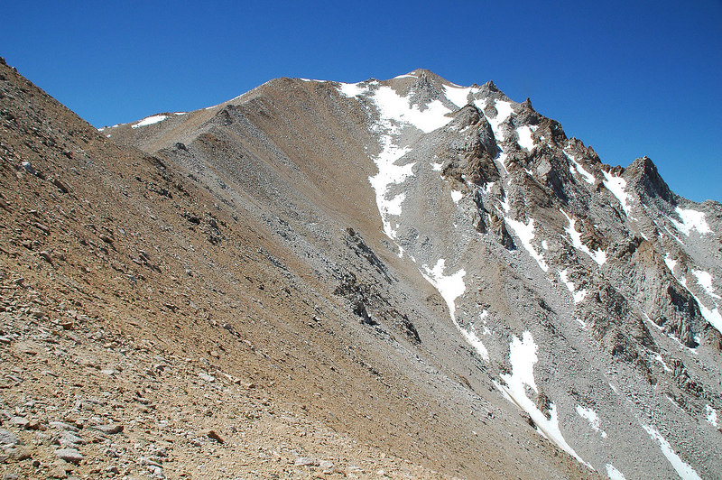 Shot of Boundary from the 3rd saddle 12,200'. This is where my hike ended last year due to a lightning storm. VERY happy to have blue skies all day this time.