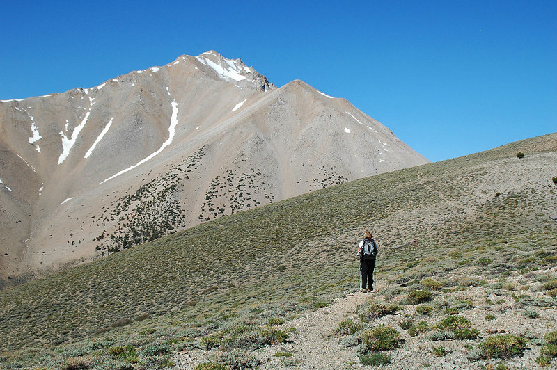 Boundary Peak comes into view.