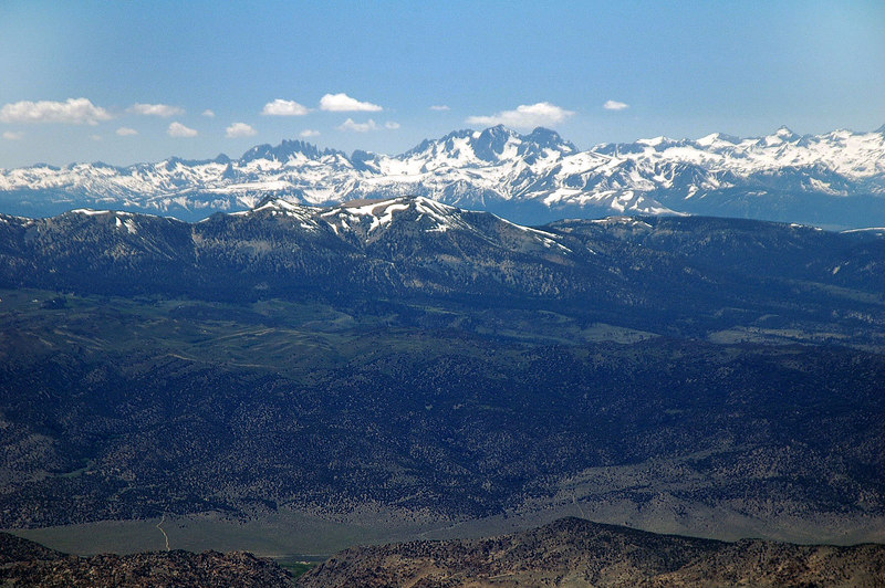 The Minarets, Mount Ritter and Banner Peak.