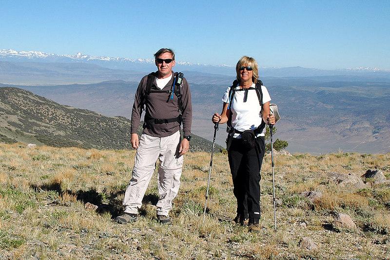 Joe (me) & Sooz the next morning ready to start the hike to Boundary Peak.