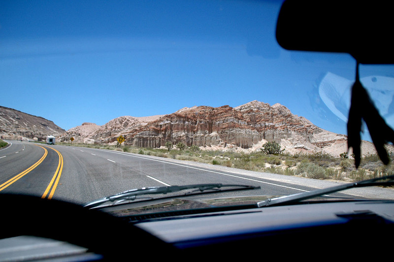 Driving on Hwy 14 Friday afternoon on the way to hike Boundary Peak.