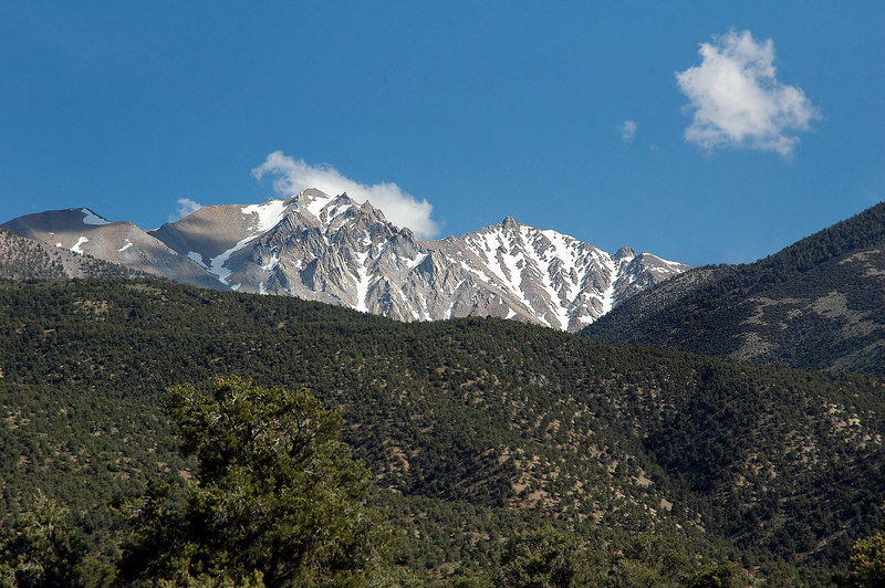Better view of Boundary Peak at 13,140' and Montgomery Peak 13,440'.