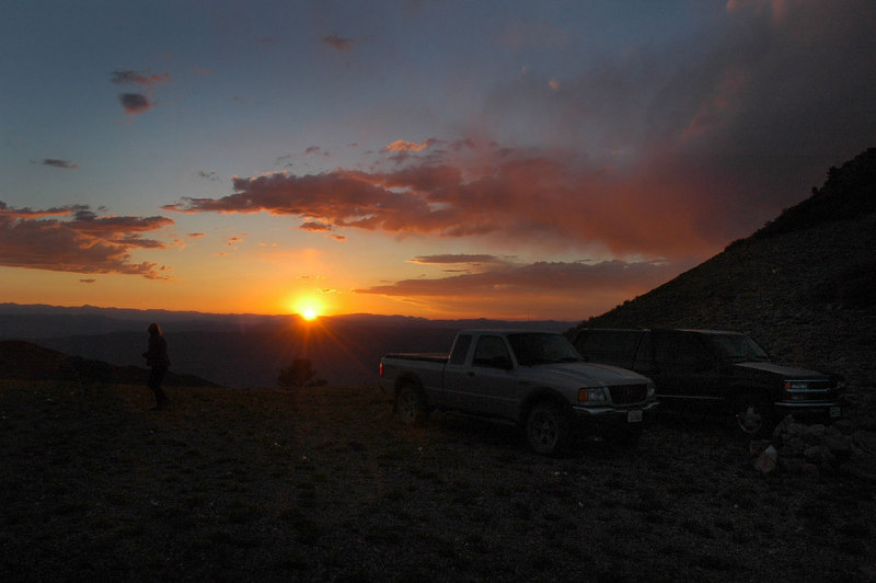 Sunset from the saddle. We camped on saddle which will be the starting point for the hike.