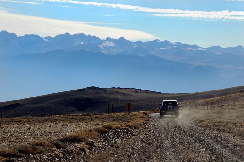 Heading down the White Mountain Road.