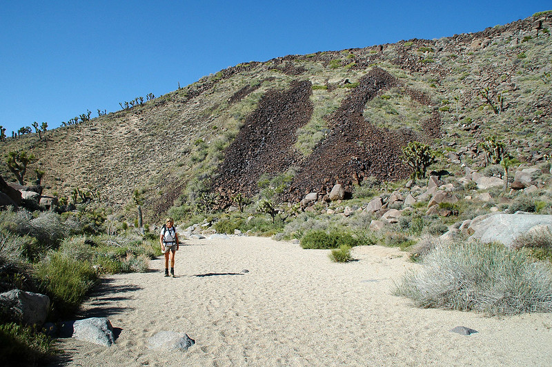 Most of this hike is on a sandy wash with some climbing over rocks in places.