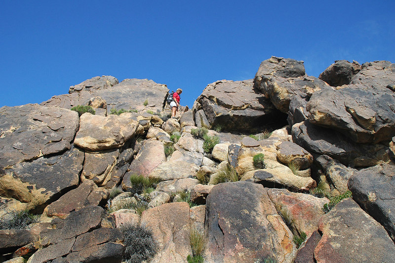 Sooz on the first climb.