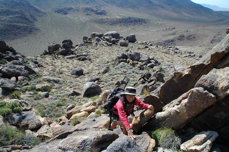 Cori on the same climb. This hike had a few climbs along the way to the peak.