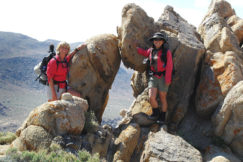 Sooz and Cori at a rock arch.