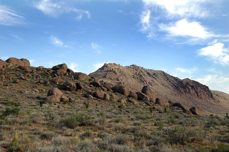 View of Jurassic Peak (aka Haiwee Ridge) from my truck the next morning.