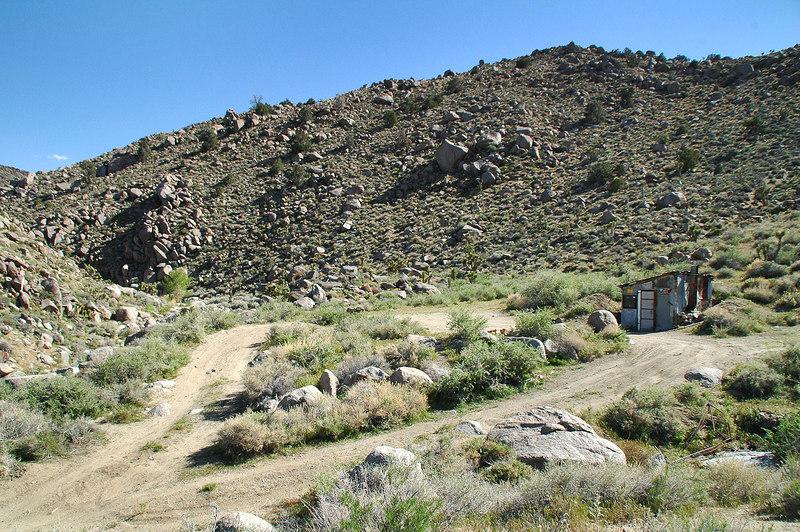 The Astro Artz Cabin at the base of Centennial Canyon.