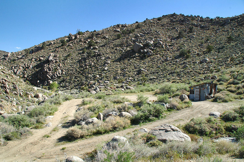 The Astro Artz Cabin at the base of Centennial Canyon.