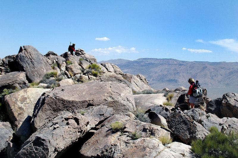 Cori on the peak.