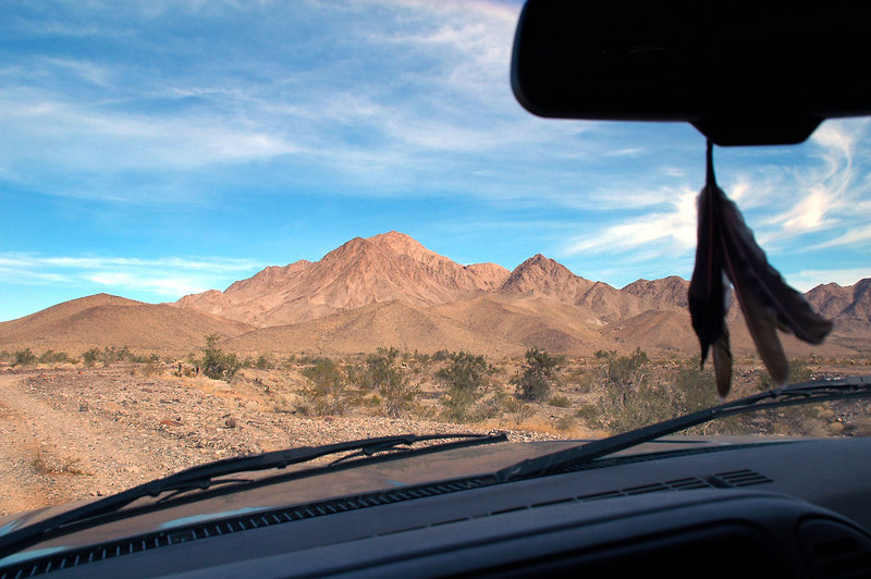 The next morning we drove to starting point for the hike. Chuckwalla Mountain coming into view.