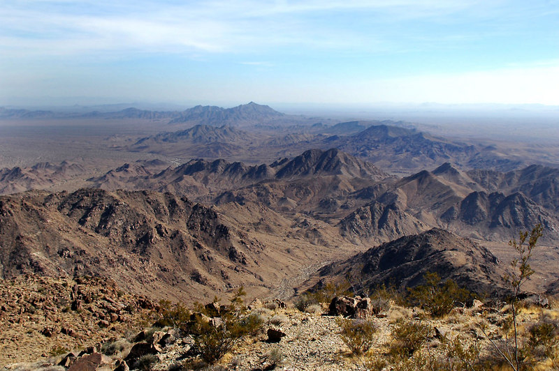 Yesterday's peak Chuckwalla in the distance to the southeast.