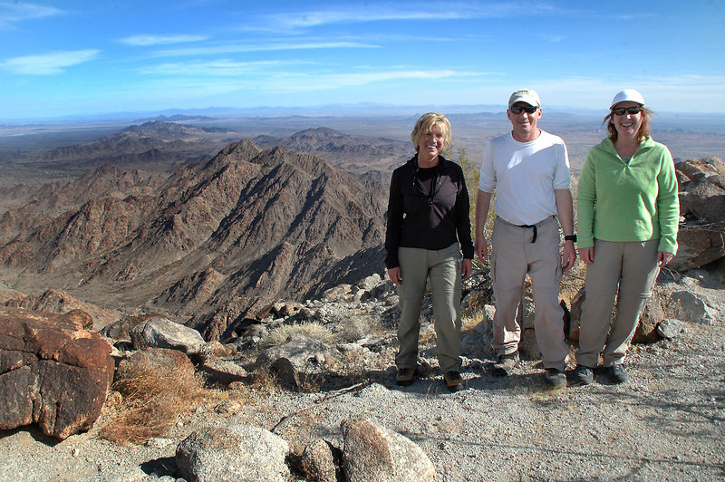 On to summit of Chuckwalla Mountain 3,446'.