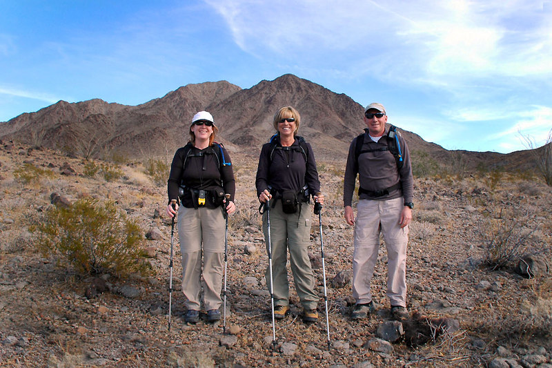 Kathy, Sooz and me, Joe at the start of the hike.