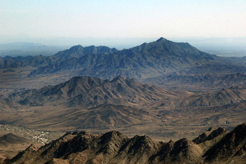 Zoomed in on Chuckwalla Mountain.