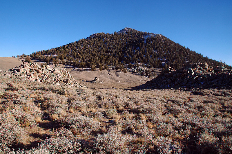 Looking back at Blanco Mountain.