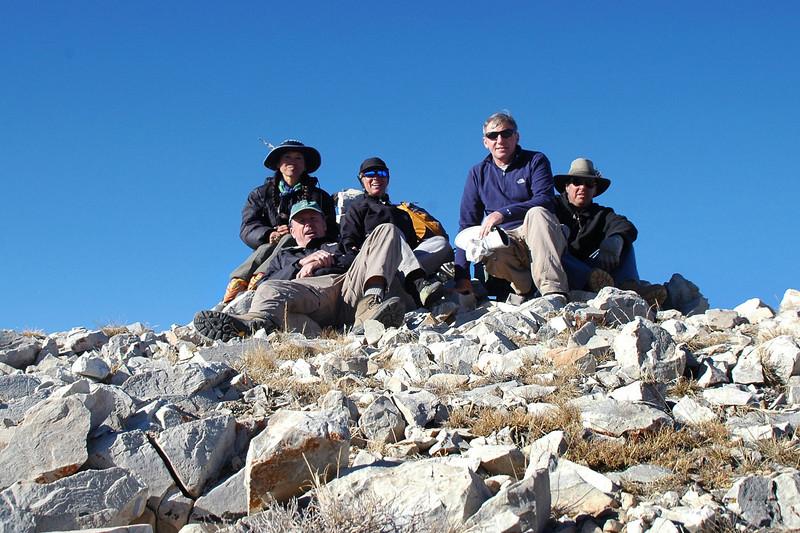 Group shot on Blanco Mountain at 11,278 feet.