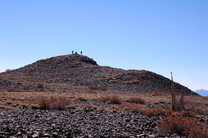 Sooz, Jim and Cori on the peak.