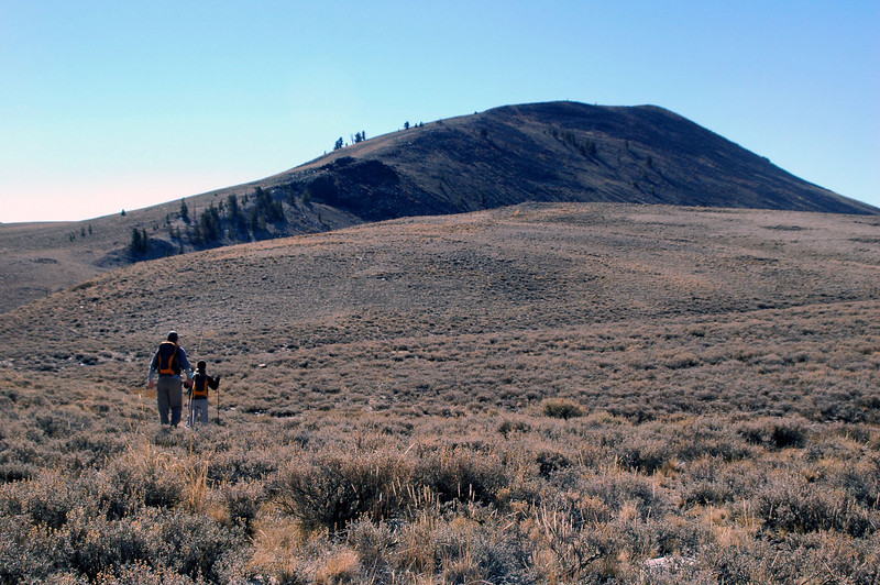 Sooz and Jim up ahead with County Line Hill.