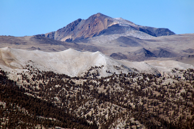 Zoomed in on White Mountain 14,246 feet.