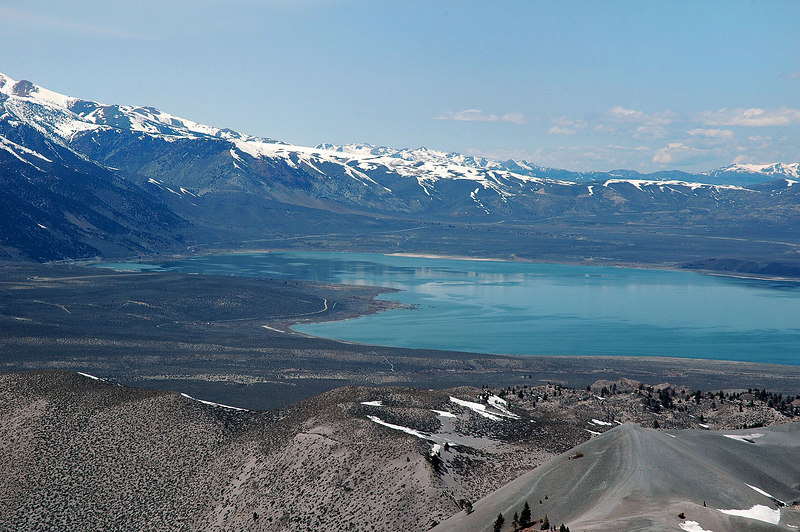This is the first of a three shot pano of Mono Lake. Looking at the west end of Mono.