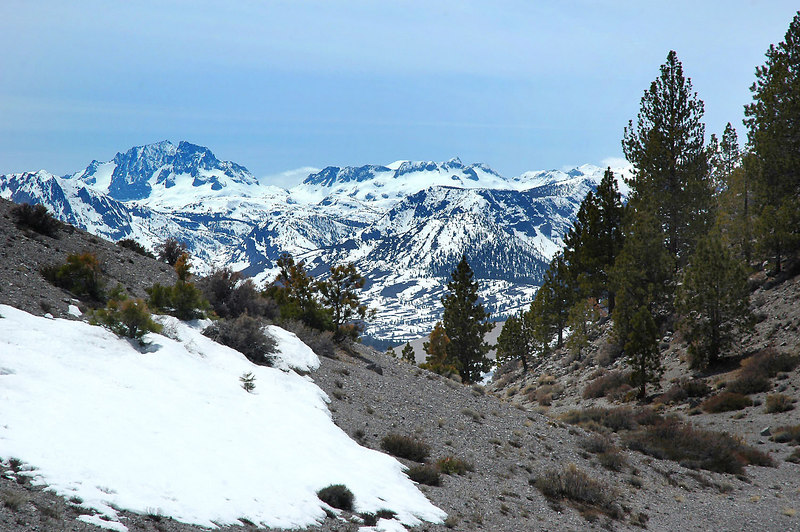 This saddle is at the base of the south side of Crater Mountain. Cool view from here.