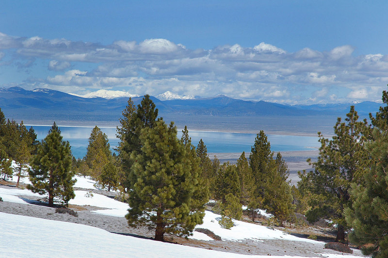 My first view of Mono Lake to the north.