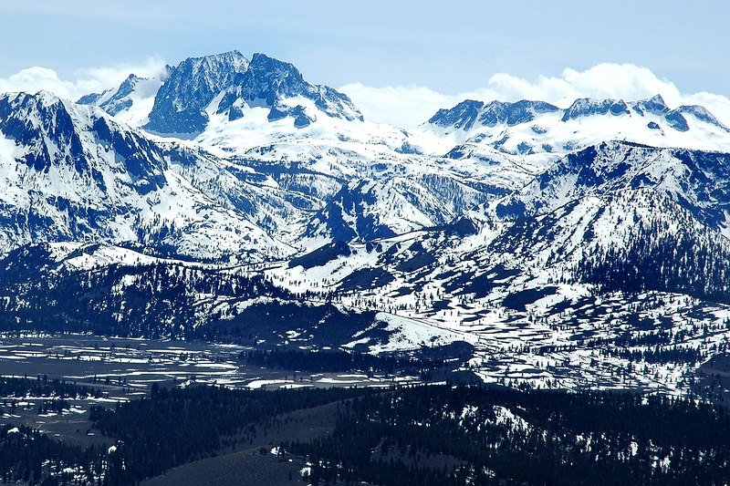 Zoomed in on Mt Ritter and Banner Peak.