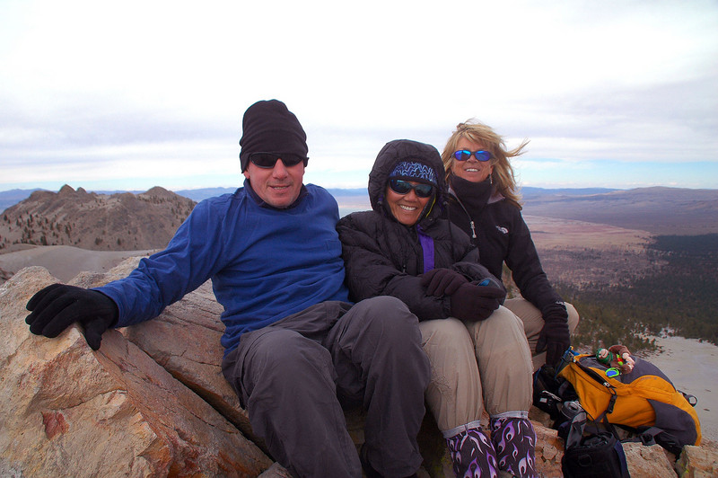 Me, Cori and Sooz on South Crater at 9,138 feet.