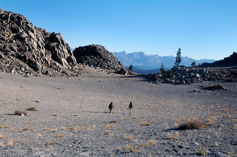 Crossing the crater to the south rim.