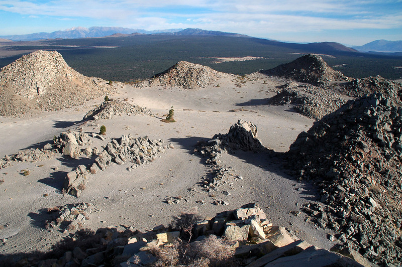 Looking to the southeast arcoss Crater Mountain's crater and the peaks that suround it.