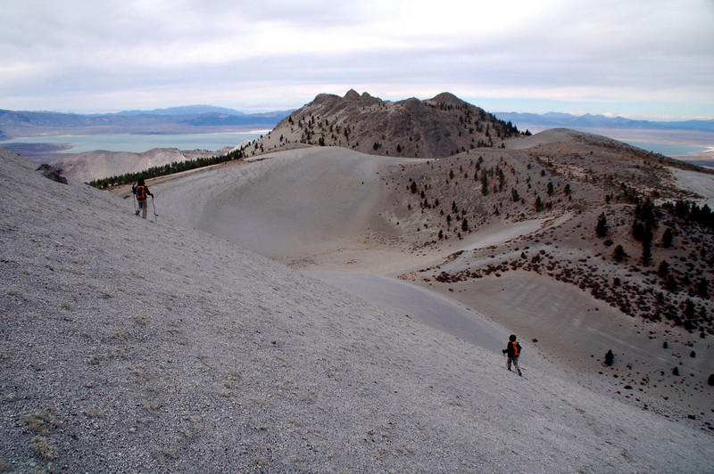 We had to drop down about 500 feet before hiking up to the ridge that leads to Crater Mountain.
