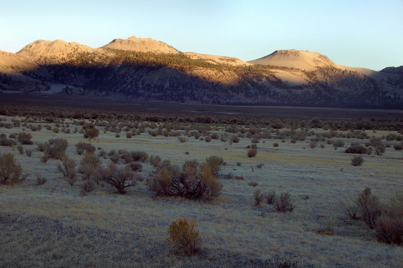 Driving out, we stopped on Hwy 120 to get a shot of Crater Mountain and South Crater.